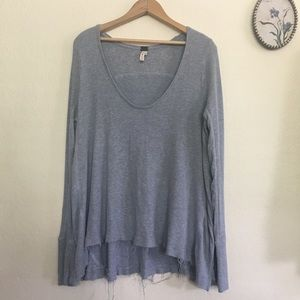 We the Free Raw Hem Waffle Knit Thermal Top